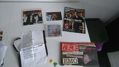 Jimmy Eat World Signed Cd W/ The Middle Vinyl & Memorabilia Bundle W/proof
