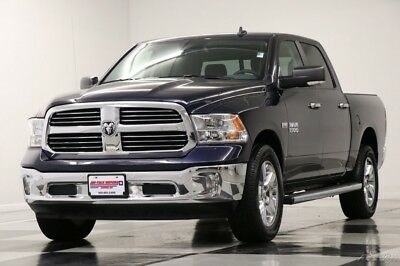 Ram 1500 4WD Big Horn Crew Cab Camera True Blue Pearlcoat Used Chrome Rims 5.7L V8 Bluetooth 17 15 2017 16 Hemi Remote Start Dodge