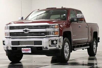 Chevrolet Silverado 3500 HD 4X4 LTZ Diesel Leather Butte Red Crew 4WD Used 3500HD SRW Duramax GPS Navigation Heated Cooled Seats 17 18 2017 16 Cab