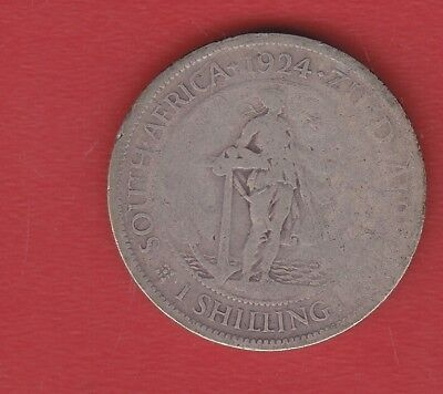 South Africa  1 Shilling 1924 Silver