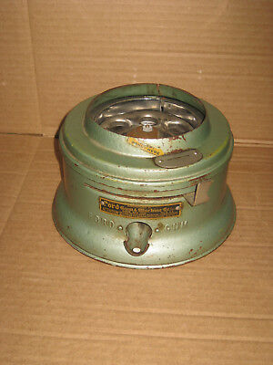 Vintage Ford Green 1 Cent Gumball Machine Base Mechanism
