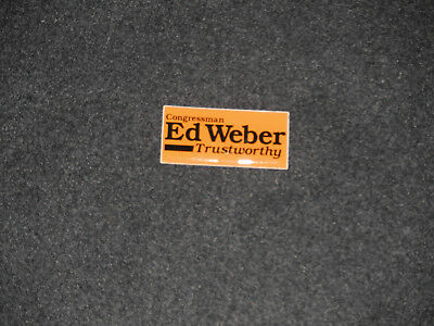 1982 Congressman Ed Weber Toledo Ohio 9th District Republican Tab