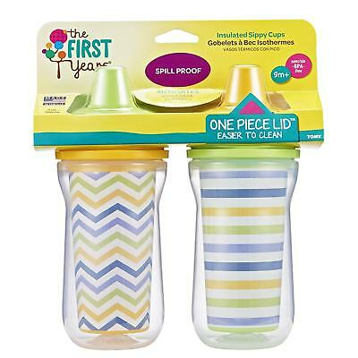 The First Years Insulated Hard Spout Sippy Cup - 2 pack 9M+