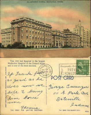 METHODIST HOSPITAL INDIANAPOLIS Indiana IN mailed 1948