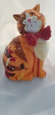 Orange Cat cookie jar
