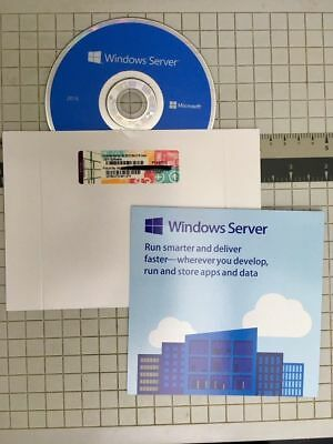 Microsoft Windows Server Standard  2016 2CPU- 16 core-2VM New !