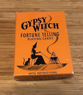 Vintage Gypsy Witch Fortune Telling Card Deck Game Halloween!