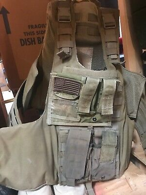 Eagle Industries Plate Carrier L/XL MOLLE Coyote LE Duty w/Armor