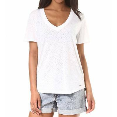 T-shirt Volcom Mix a lot Vneck femme white