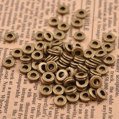 Wholesale 100Pcs Tibetan Bronze Charms Spacer Beads Jewelry Findings 6MM 3039