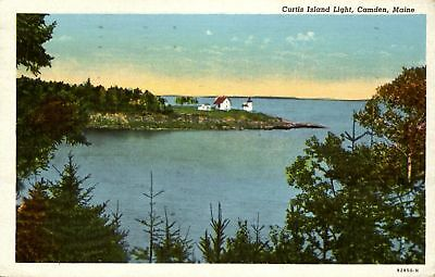 Curtis Island Light Camden Maine ME ~ mailed 1950