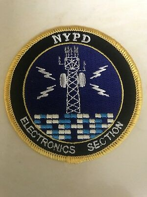 NYPD New York City Police Department Electronics Section Patch