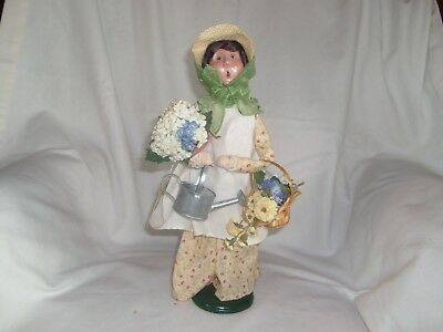 Byers Choice Ltd. The Carolers-2004 Woman With a Basket of Flowers, Caroler