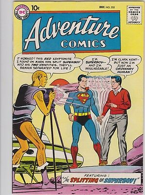 Adventure Comics # 255 Superboy, Green Arrow, Aquaman Jack Kirby 1958 Vf+