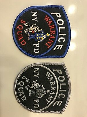 NYPD New York City Police Dept Warrant Squad Patch Set
