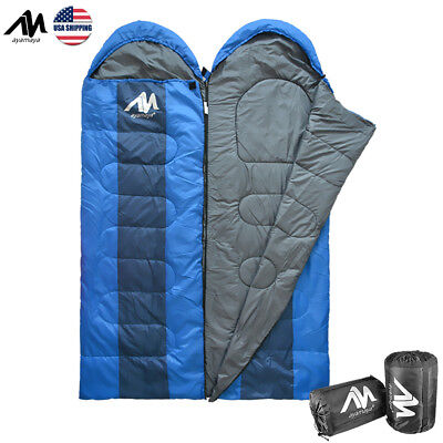 Ultralight Winter Warm Adult Envelop Sleeping Bag Camping Hiking With Stuff Sack