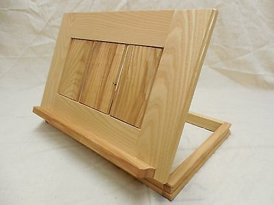 Book stand; solid ash; one-of-a-kind