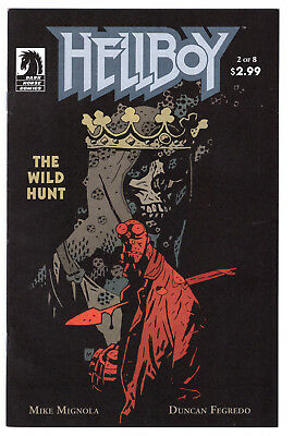 Hellboy The Wild Hunt #2 1St Nimue The Blood Queen Vf/nm 1St Print 2009 Mignola