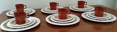 Vintage 70s MELMAC BESSEMER Australian Made FLORAL 6 person HOLIDAY PICNIC Set