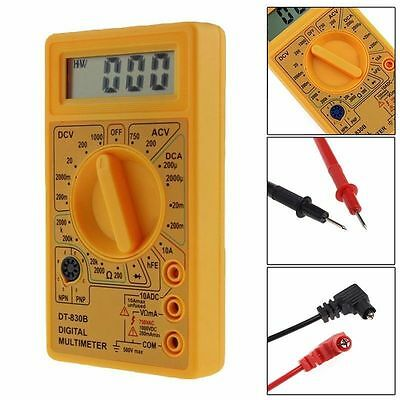 DT830B LCD Digital Multimeter Voltmeter Ammeter AC DC Voltage OHM Circuit Tester