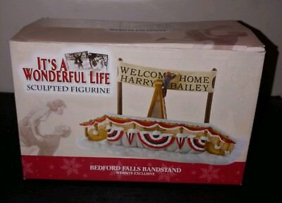 Enesco Bedford Falls Its a Wonderful Life Bandstand Exclusive Christmas Village