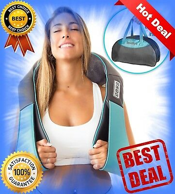 Shiatsu Back Neck and Shoulder Massager with Heat Deep Tissue 3D Kneading Pillow