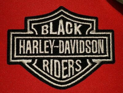 Harley Davidson Black Riders Motorcycle Biker Vest Patch Iron On