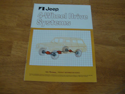Vintage 1980 80  Amc Jeep 4-Wheel Drive Systems Brochure Wagoneer Truck Cj-5