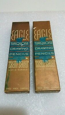 "Eagle Turquoise Drawing Pencils ""Chemi-Sealed"" (Super Bonded)Unsharpened"