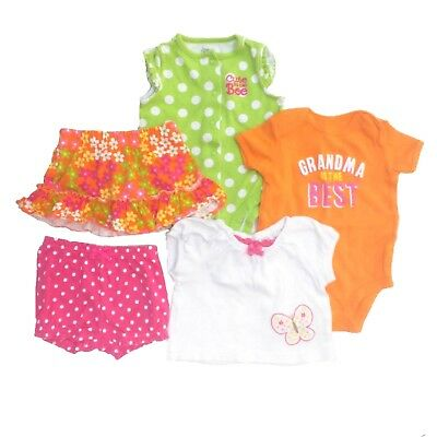 "CARTER'S & More Baby Girls 0-3 3-6 months ""Cute As Can Bee"" Clothing LOT"
