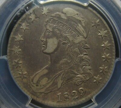 1829 50c Capped Bust Half Dollar PCGS XF40