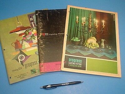 Vintage 1961, 1962, 1964 Progress Lighting Fixtures Catalogs