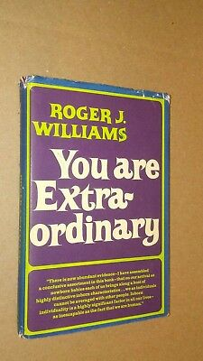 YOU ARE EXTRAORDINARY Roger J. Williams 1967 HC FIRST EDITION