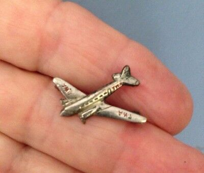 Vintage Hat Pin Lapel Pin 1940's TWA Stratoliner Boeing 307 from Stetson Hat
