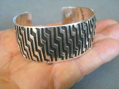 "Sterling silver overlay cuff, CB, 47.4 grams, 1"" tall"