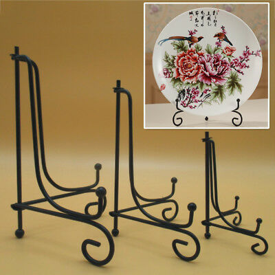"""Picture and Book Display Stand Home and Kitchen  Decor 12 /"""" Black Iron Plate"""