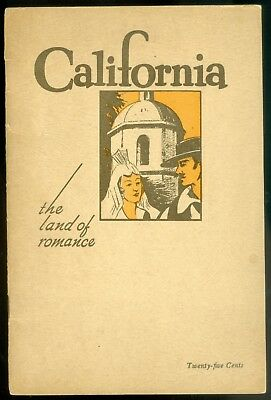 1944 Booklet California The Land Of Romance