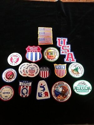 Vintage US Vollyball association ASVBA Patches 70's
