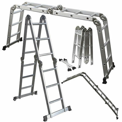 Scaffold Ladder Heavy Duty Giant Aluminum 12.5 Feet 330LB Multi Purpose Extend