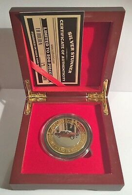 """New """"EH"""" Holden  Silver Stunner Coin & Display Box C.O.A. LTD 500 Gift"""