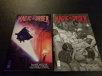 THE MAGIC ORDER #3  Cover B and C Variant Set   Super Hot Image Comics Title NM