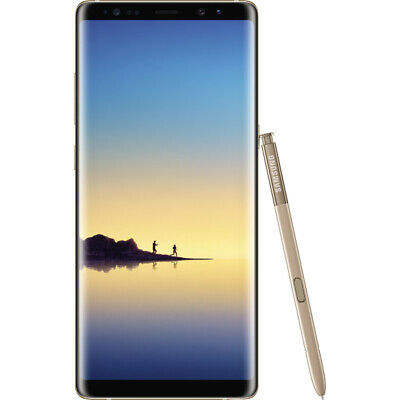 "Samsung Galaxy Note 8 Gold 64gb LTE Android Smartphone Unlocked 6,3""Display"