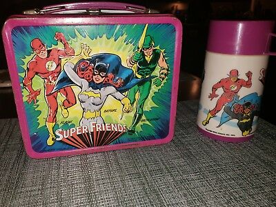 1976 Super Friends Vintage Metal Lunchbox and Thermos!
