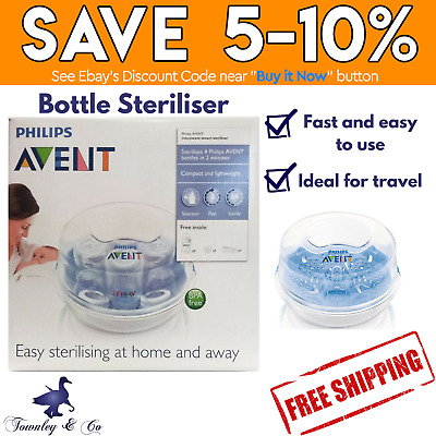 Steam Steriliser Philips Avent Microwave Fast Easy At Home And Away Bpa Free