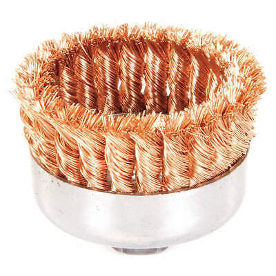 WEILER Knot Wire Cup Brush,Threaded Arbor,4 In., 93807