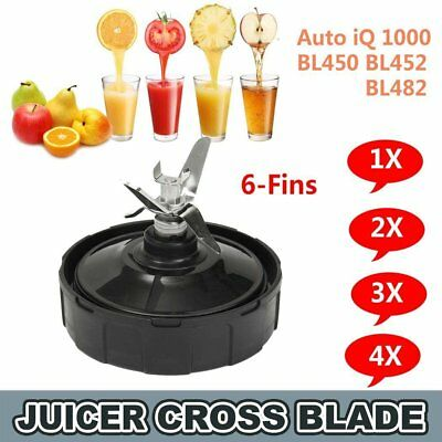 4PCS Extractor Blade 6 Fin Replacement For Nutri Ninja Blender Auto iQ1000 BL484