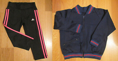 Adidas girls knee length tights and jacket