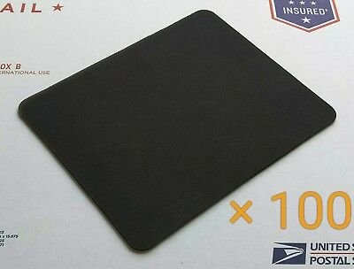 Plain Black Mouse Pad Lot - Pack of 100 High Quality 22 x 18cm Blank Mouse Pads