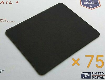 Plain Black Mouse Pad Lot - Pack of 75 High Quality 22 x 18cm Blank Mouse Pads