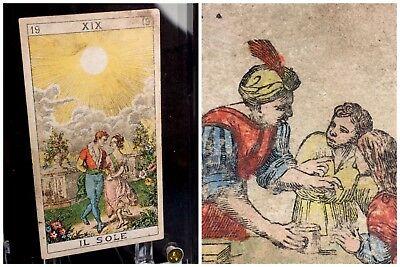Authentic The SUN XIX Century Historic Antique Tarot Playing Cards Arcana Single